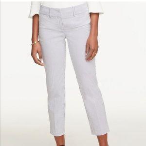Women's seer sucker cropped pants